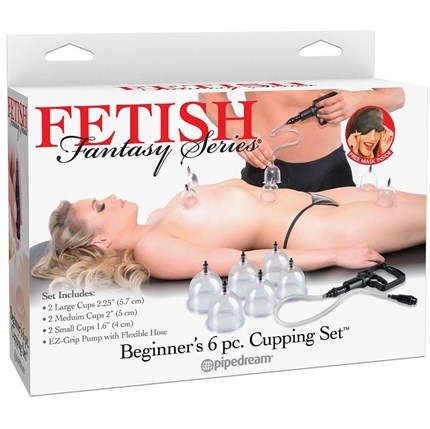 FETISH FANTASY BEGINNERS 6PC CUPPING SET