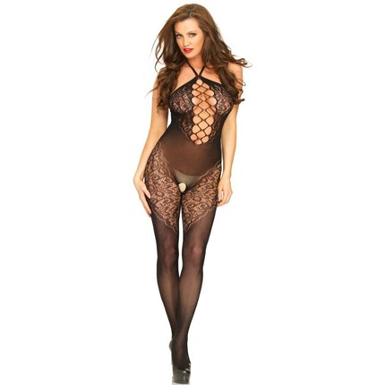 LEG AVENUE HALTER BODYSTOCKING TALLA UNICA