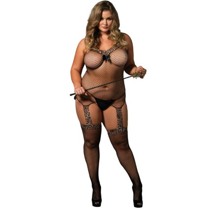 LEG AVENUE REVERSIBLE BODYSTOCKING TALLA GRANDE